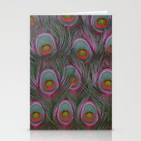 Painted Peacock 2 Stationery Cards