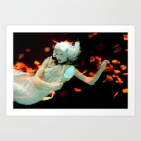 Girl Floating Art Print