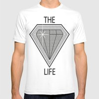Diamond Life Mens Fitted Tee White SMALL