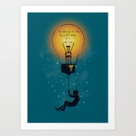 Art Print featuring The Value Of An Idea by Budi Kwan