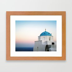 church.aegeansea.greece Framed Art Print