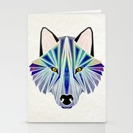 Stationery Cards featuring Wolf by Manoou