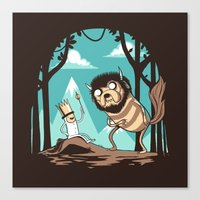 Where the Wild Adventures Are Canvas Print
