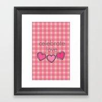 Celebrate Love! Framed Art Print