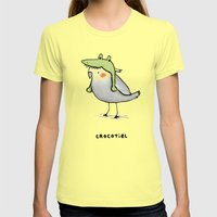 Crocotiel Womens Fitted Tee Lemon SMALL