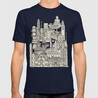 Hong Kong Toile De Jouy … Mens Fitted Tee Navy SMALL