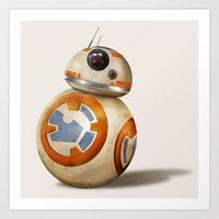 Cute Little Droid Art Print