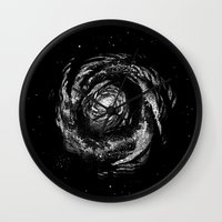 Dark Spiral Wall Clock