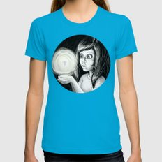 The Little Pixie Womens Fitted Tee Teal SMALL