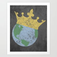 King Of The World Art Print