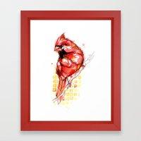 Cardinal Rule Framed Art Print