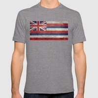 The State flag of Hawaii - Vintage version Mens Fitted Tee Tri-Grey SMALL