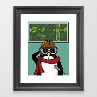 Little Penguin, Big Plan… Framed Art Print