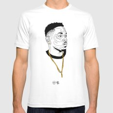 Kendrick Lamar White Mens Fitted Tee SMALL