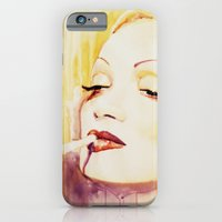 Marlene Dietrich with a cigarette iPhone 6 Slim Case