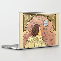 french Laptop & iPad Skins featuring La Dauphine Aux Alderaan by Karen Hallion Illustrations