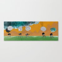 Bleep! Bleep-bleep! Canvas Print