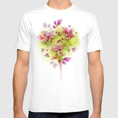 Fleur Tree White SMALL Mens Fitted Tee