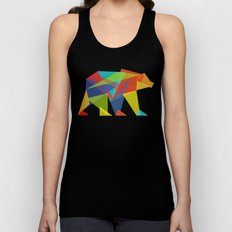 Fractal Geometric bear Unisex Tank Top