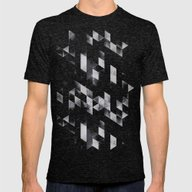 Dyy Blyckk Fryydyy Mens Fitted Tee Tri-Black SMALL