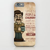iPhone & iPod Case featuring Ron Swanson 6 by maykel nunes