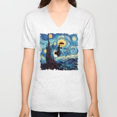 mary poppins Starry Night oil painting iPhone 4 4s 5 5c 6, pillow case, mugs and tshirt Unisex V-Neck