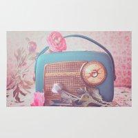 Vintage Radio. Rug