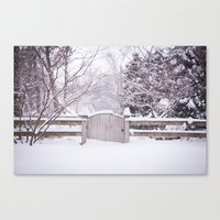Snow Gate  Canvas Print