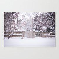 Snow Gate  Canvas Print