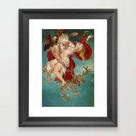 Badass Santa Framed Art Print
