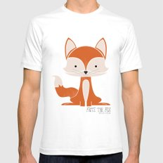 Fritz the Fox SMALL White Mens Fitted Tee