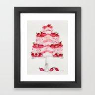 Strawberry Shortcake Framed Art Print