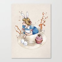 Tea Time in Wonderland Canvas Print
