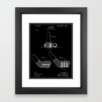 Golf Club Patent (v2) - Black Framed Art Print