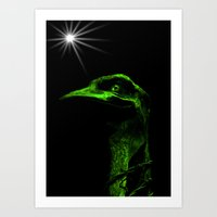 Mr Emu Art Print