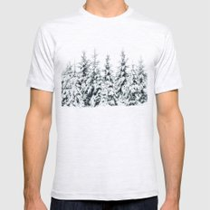 Snow Porn Mens Fitted Tee Ash Grey SMALL