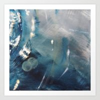 Deep Blue Waves Art Print