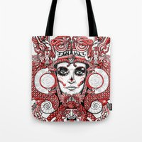 Red Serpent Queen Tote Bag
