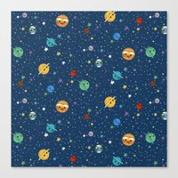 Out Of This World Cuteness (dark) Canvas Print