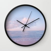 Calm Day Ver.pink Wall Clock
