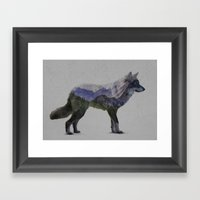 The Rocky Mountain Gray Wolf Framed Art Print