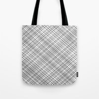 Weave 45 Black and White Tote Bag