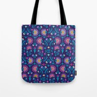 Folkloric In Blue Tote Bag