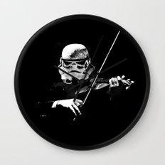 Dark Violinist Warrior Wall Clock