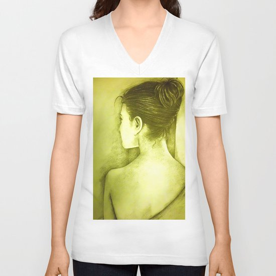 BEHIND V-neck T-shirt