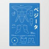ベジータ - Vegeta Kit Canvas Print
