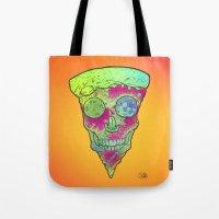 Skull Slice Neon Tote Bag