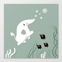 Ocean Elephant Canvas Print