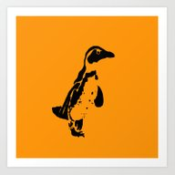 Art Print featuring Penguin Patches by Crayle Vanest