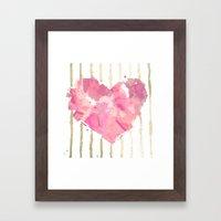 Je T'aime Light Pink Framed Art Print